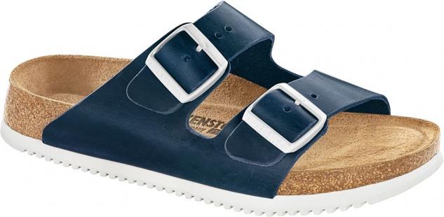 BIRKENSTOCK Pantolette Arizona SL blue Nubukleder Gr. 35 - 48 230174 + 230176