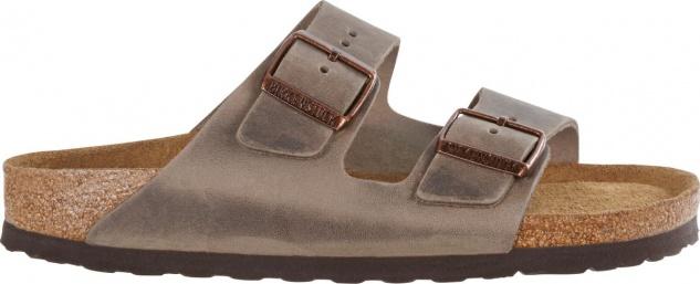 Birkenstock Pantolette Arizona FL tabacco brown Fettleder 35 - 46 552813