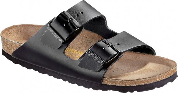 BIRKENSTOCK Pantolette Arizona schwarz Leder Gr. 35 - 50 051193 + 051191