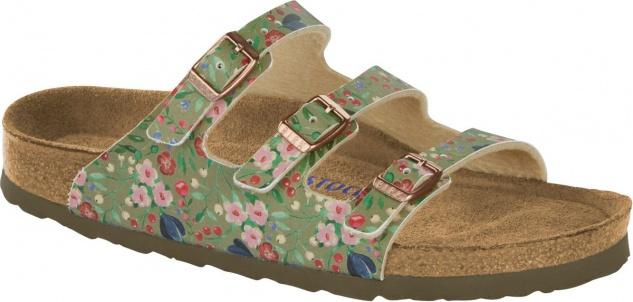 Birkenstock Pantolette Florida BF meadow flowers khaki Gr. 35 - 43 1012781