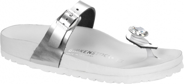 Birkenstock Zehensteg Kaduna metallic silver diamond 1009007