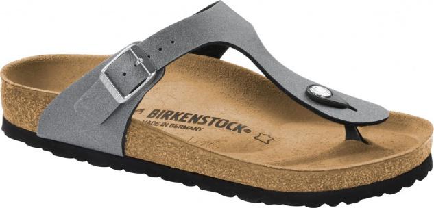 Birkenstock Zehensteg Gizeh icy metallic anthracite 1014288