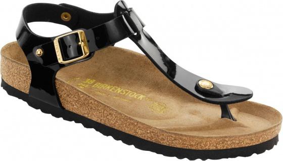 Birklenstock Zehensteg Sandale Kairo Studs BF schwarz Lack Gr. 35 - 43 - 147241 / 147243