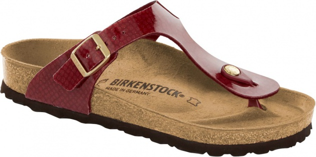 Birkenstock Zehensteg Sandale Gizeh magic snake bordeaux 1013629