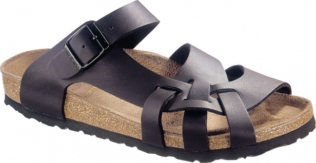 BIRKENSTOCK Pantolette Sandale Pisa schwarz Birko-Flor Gr. 35-43 075033 + 075031