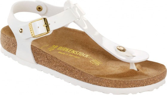 BIRKENSTOCK Zehensteg Sandale Kairo Studs BF weiß Lack Gr. 35 - 43 - 147251