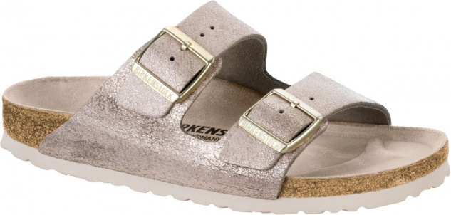 BIRKENSTOCK Pantolette Arizona washed metallic rose gold Gr. 35-43 1008800
