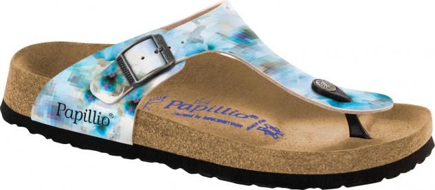 Papillio Zehensteg Sandale Gizeh BF pixel blue soft - Gr. 35 - 43 - 1005926