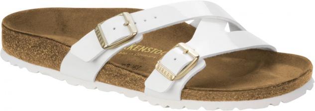 Birkenstock Pantolette Yao Balance white patent 1005054 / 1014957