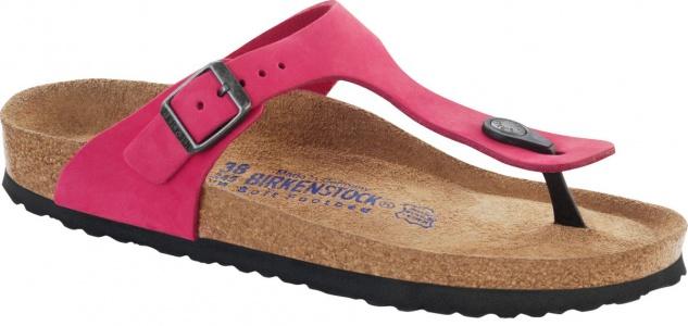 Birkenstock Zehensteg Sandale Gizeh Nubukleder pink Gr. 35 - 43 - 847641