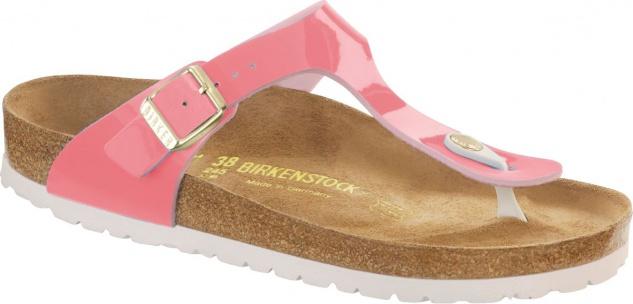 Birkenstock Gizeh Zehensteg Sandale two tone cream coral BF Lack Gr. 35 - 43 - 1012239