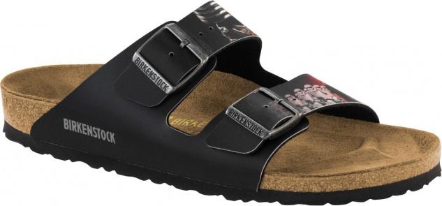 Birkenstock Pantolette Arizona kylo ren black red 1001644