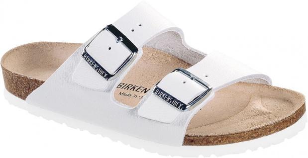 BIRKENSTOCK Pantolette Sandale Arizona weiß Leder Gr. 35 - 50 051131 + 051133