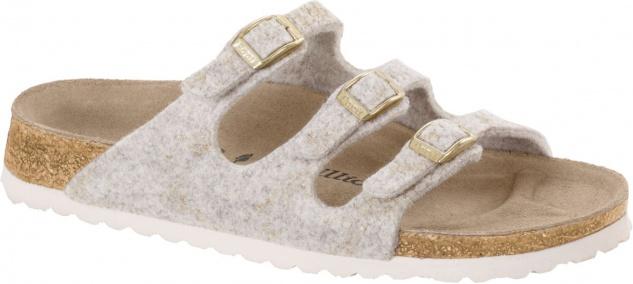 Papillio Pantolette Sandale Florida Wollfilz shiny felt offwhite - 1007081