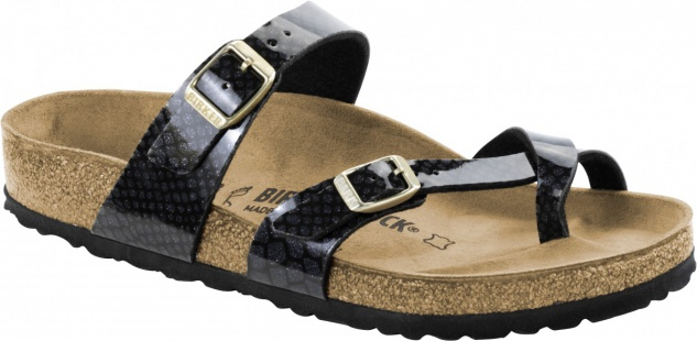 Birkenstock Zehensteg Sandale Mayari magic snake black Gr. 35 - 43 - 1009103