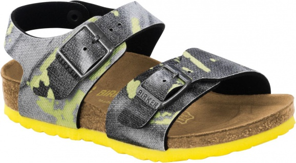 Birkenstock Sandale New York kids city camo yellow Gr. 26 - 34 1003229k