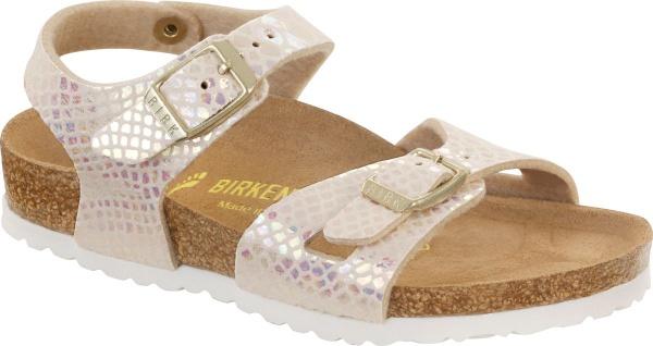 Birkenstock Sandale Fersenriemen Rio BF shiny snake cream Gr. 35 - 39 831833