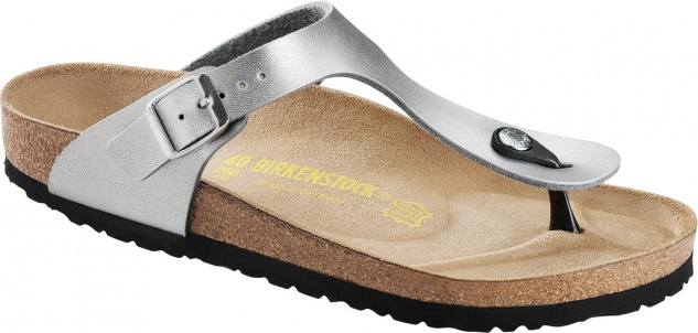 Birkenstock Zehensteg Sandale Gizeh silber, BF, Gr. 35 - 43 043851 + 043853