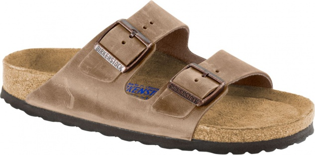 Birkenstock Pantolette Arizona tabacco brown waxy leather Gr. 35 - 43 552811