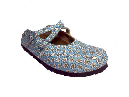 Birkenstock Clog Dorian BF Minnie Flower Pattern blue 538103