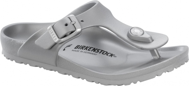 Birkenstock Zehensteg Gizeh EVA metallic silver 1003497