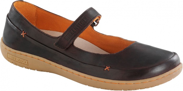 BIRKENSTOCK Shoes Balerina Iona dark brown Naturleder 433071 + 433073