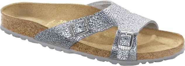Birkenstock Shakina pebbles metallic silver Nubukleder Gr. 35 - 43 - 029403 - Vorschau