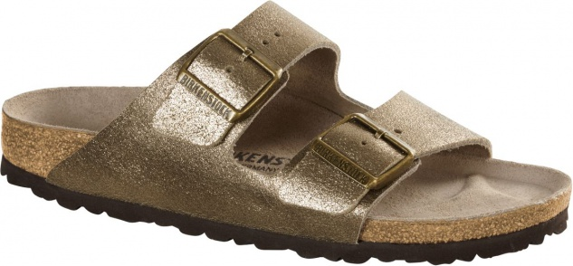 Birkenstock Pantolette Arizona NL washed metallic antique gold Gr. 35 - 43 1011286