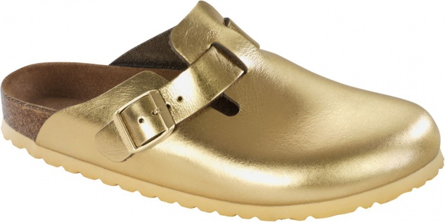 Birkenstock Clog Boston NL Metallic Gold Gr. 35 - 43 - 259613