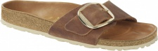 Birkenstock Pantolette Madrid Big Buckle waxy leather, cognac Gr. 35 - 43 1006525