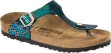 Birkenstock Zehensteg Sandale Gizeh BF shiny snake black multicolor - Gr. 35 - 43 - 1003464