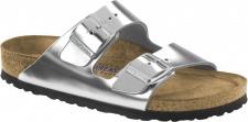 Birkenstock Pantolette Arizona NL WB Metallic silver Gr. 35 - 43 - 752713