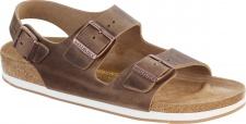 Birkenstock Sandale Milano FL tabacco brown Fettleder Gr. 35 - 46 635033