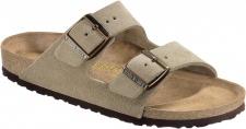 BIRKENSTOCK Pantolette Sandale Arizona taupe Velours Gr. 35 - 48 051463 + 051461
