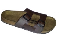 Newalk Pantolette Fulda ähnlich Arizona braun Original Birkenstock Fußbett - 1651B