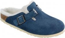 Birkenstock Clog Boston Leder/Fell blau Gr. 35 - 46 259073