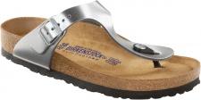 Birkenstock Zehensteg Sandale Gizeh NL WB Metallic silber Gr. 35 - 43 - 745591