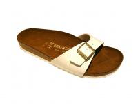 Birkenstock Pantolette Sandale Madrid BF Lack weiß Gr. 35 - 43 339973