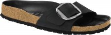 Birkenstock Pantolette Madrid Big Buckle Fettleder, schwarz Gr. 35 - 43 1006522 / 1006523