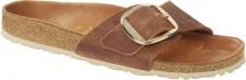 Birkenstock Pantolette Madrid Big Buckle waxy leather, cognac Gr. 35 - 43 1006525