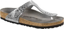 Birkenstock Zehensteg Sandale Gizeh BF metallic stones silver gray Gr. 35 - 43 - 1011910