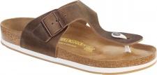 Birkenstock Zehensteg Sandale Ramses tabacco brown Fettleder (FL) Gr. 35 - 46 544221