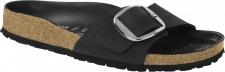 Birkenstock Pantolette Madrid Big Buckle Fettleder, schwarz Gr. 35 - 43 1006523
