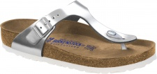 Birkenstock Zehensteg Sandale Gizeh NL WB metallic silver Gr. 35 - 43 - 1003674