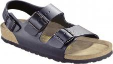 BIRKENSTOCK Sandale Milano schwarz Leder Gr. 35 - 48 034193 + 034191