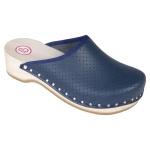 BERKEMANN Clog Standard Toeffler blau Gr. 2, 5 - 13 Leder 00400-300