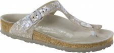 Birkenstock Zehensteg Sandale Gizeh NL spotted metallic silver Gr. 35 - 43 - 1006743