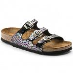Birkenstock Pantolette Florida shiny snake black BF 35 - 43 1006155