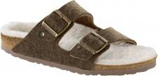 Birkenstock Pantolette Arizona doubleface khaki Wolle Gr. 35 - 46 1012431 / 1012432