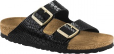 Birkenstock Pantolette Arizona BF Shiny Snake black Gr. 35 - 43 1000258